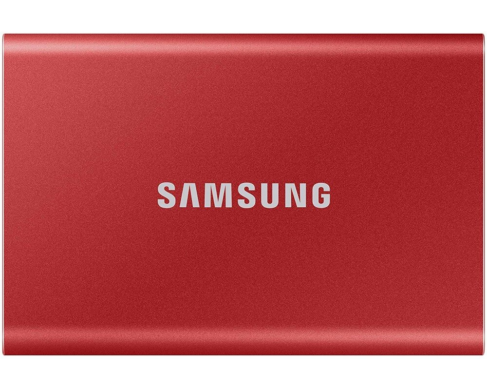SSD накопитель Samsung T7 1TB Red (MU-PC1T0R/WW)
